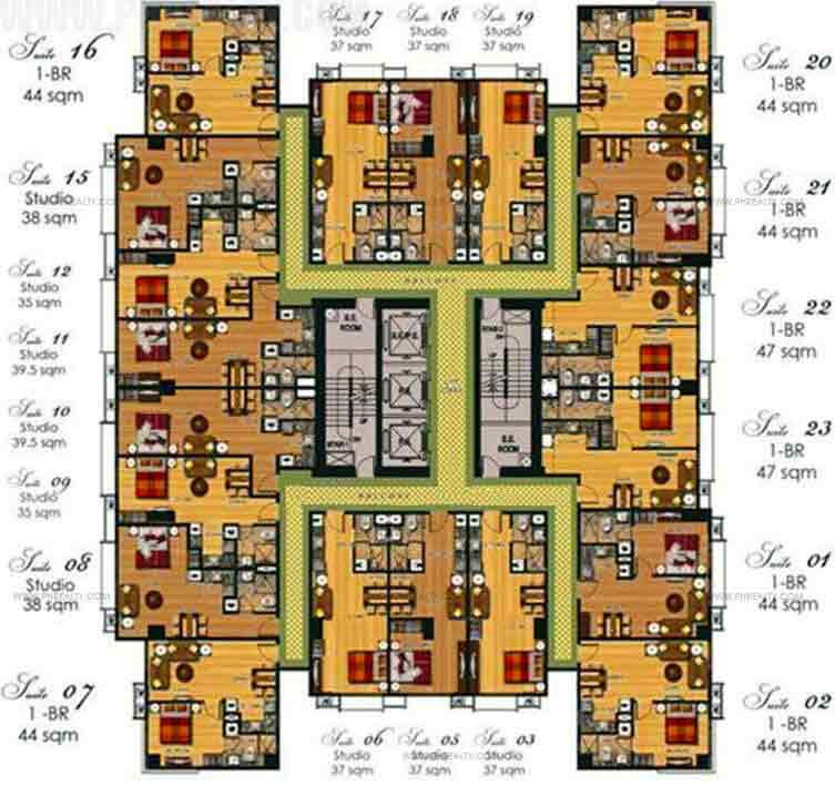 2nd To 6th Floor Plan