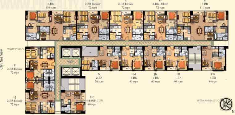 5th To 25th Floor Plan