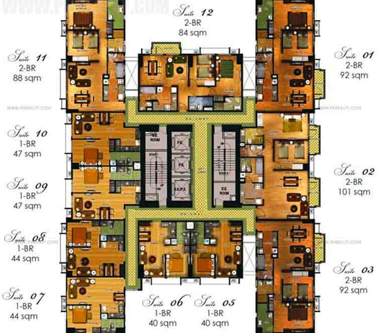9th To 16th Floor Plan