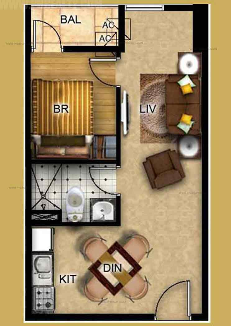 One Bedroom Type 1