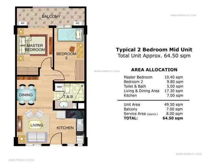 Marigold 2 Bedroom Mid Unit