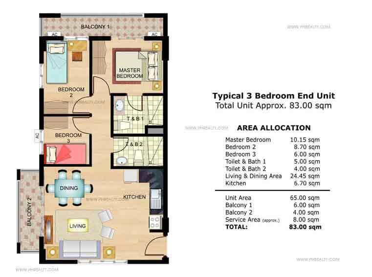 Marigold 3 Bedroom End Unit