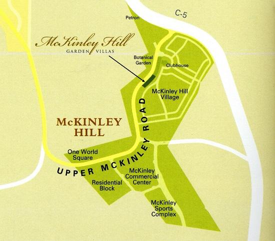 McKinley Hill Garden Villas Location