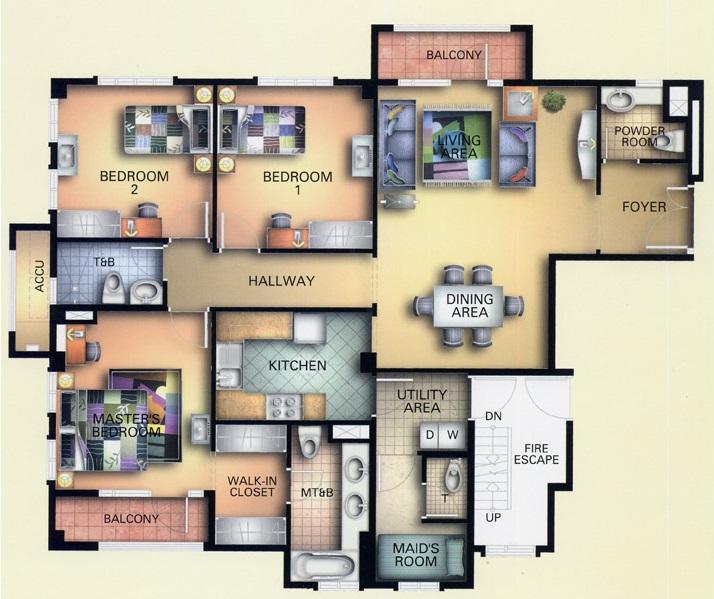 2 Bedroom- Unit Plan