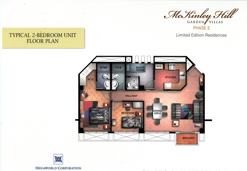 Typical 2-BR Unit Floor Plan