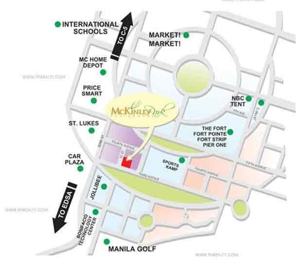 McKinley Park Residences Location