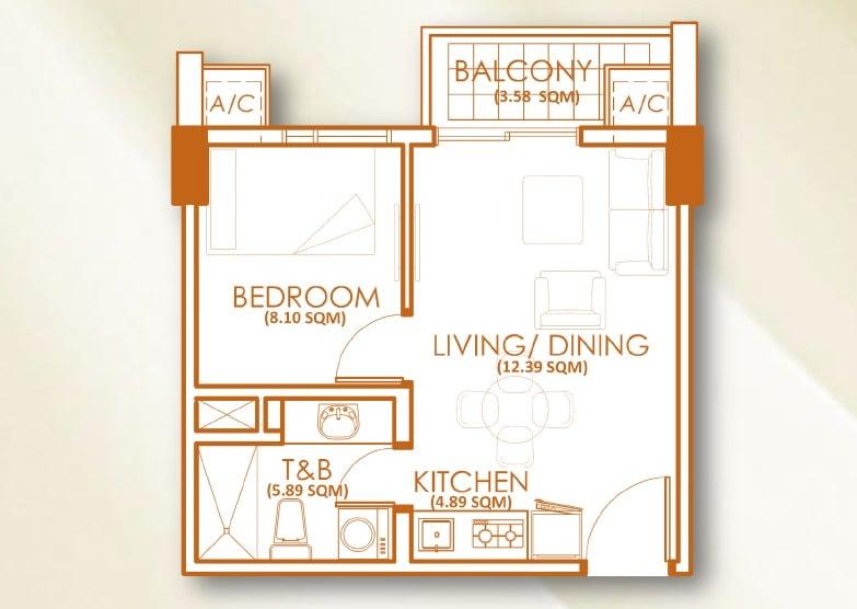 1 Bedroom - Unit B