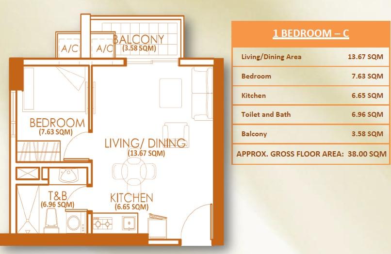 1 Bedroom - Unit C