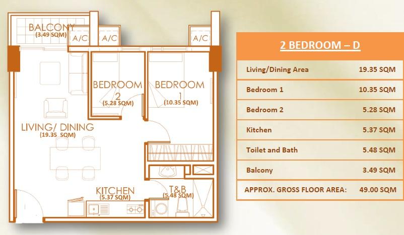 2 Bedroom Unit - D