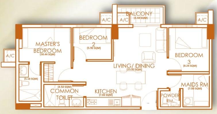 3 Bedroom Unit - C