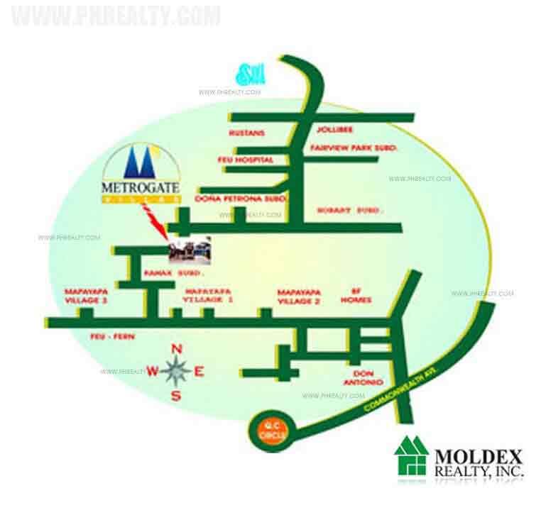Metrogate Villas Location