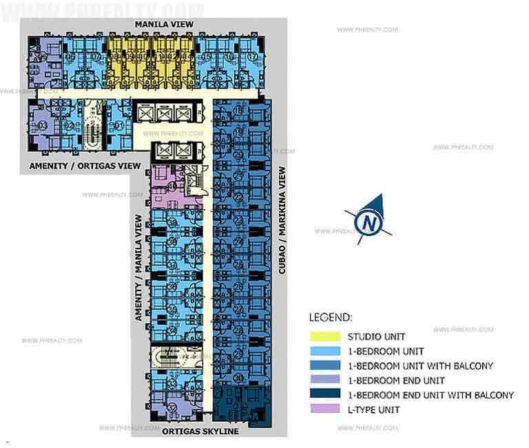 24th - 42nd Floor Plan