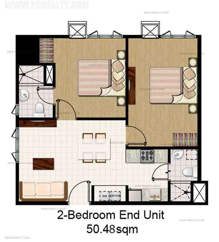 2 Bedroom End Unit