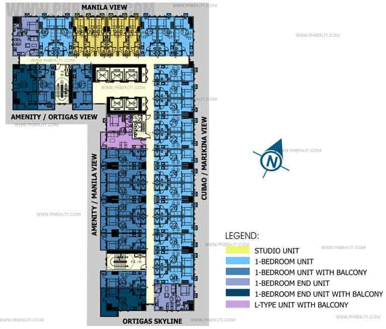 8th-23rd Floor Plan