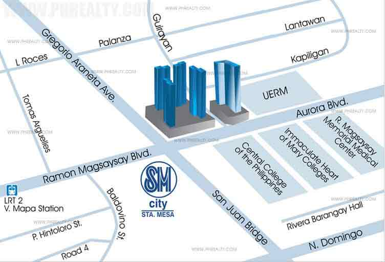 Mezza II Residences Location