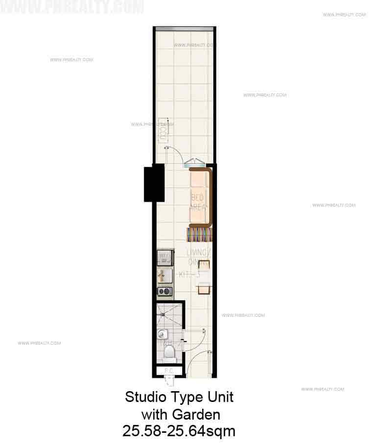 Studio Unit with Garden