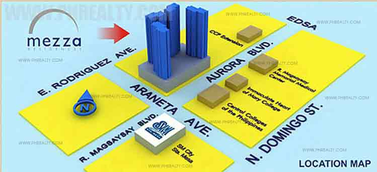 Mezza Residences Location