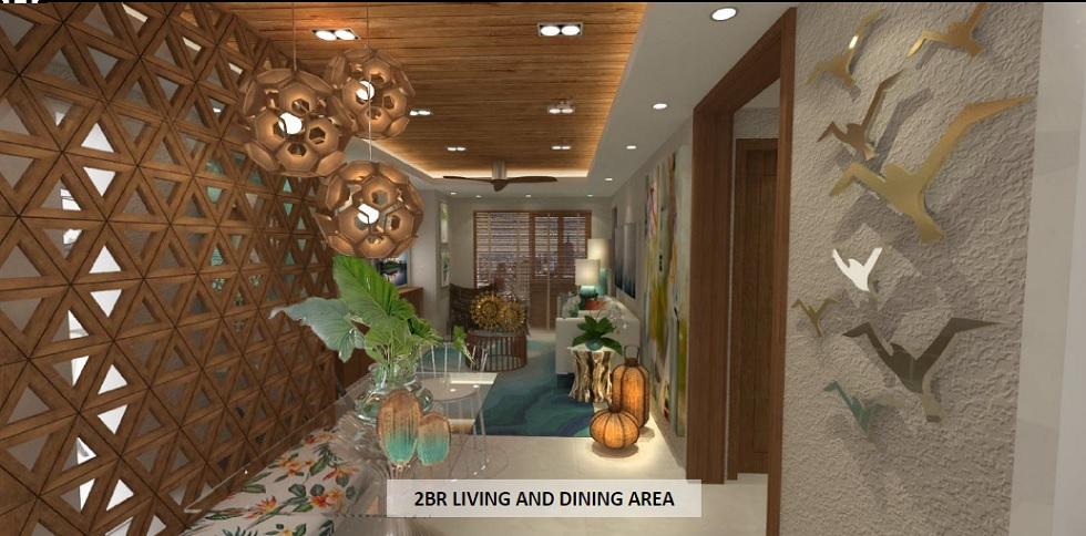 2 BR Living and Dining Area