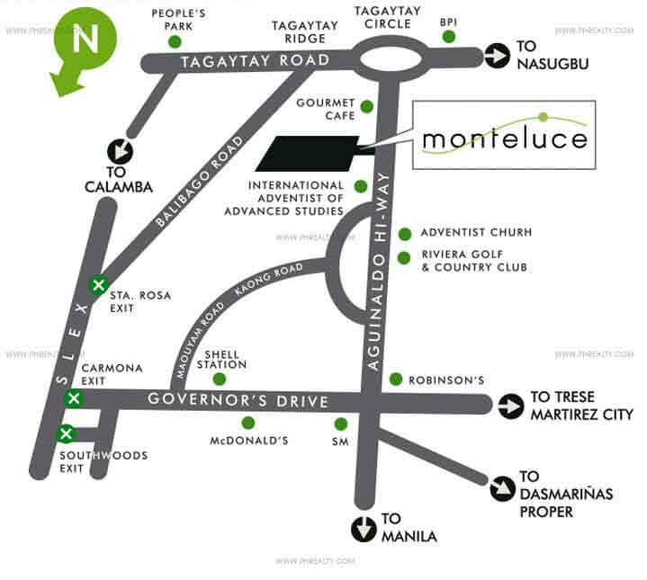 Mondavi Monteluce Location