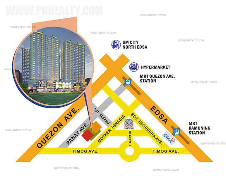 M Place Residences Location