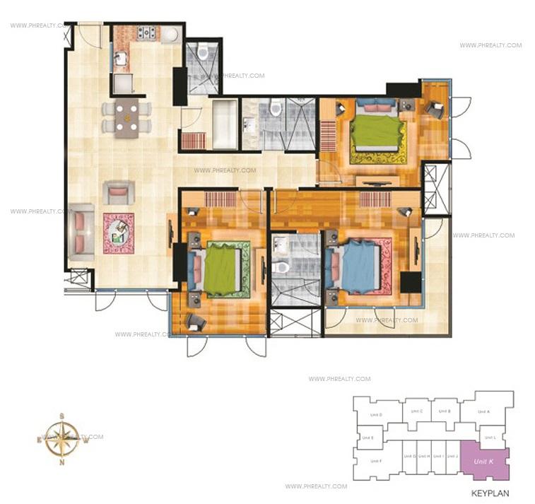 Three Bedroom Unit