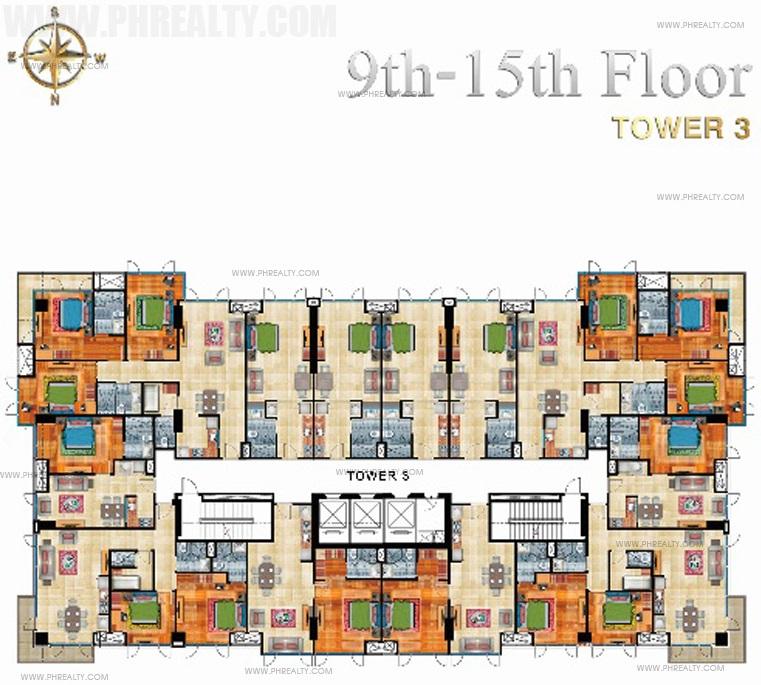 9th - 15th Floor Plan