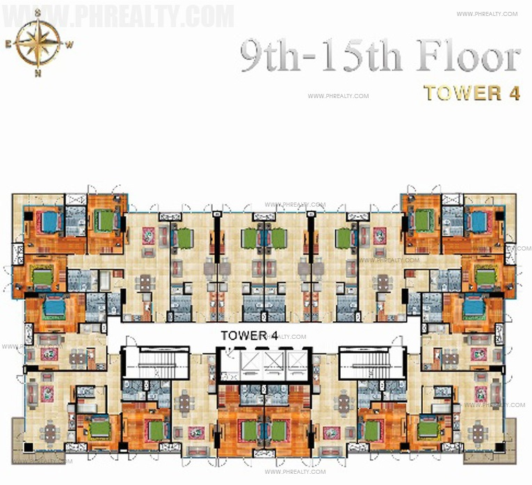 9th - 15th Floor Plan