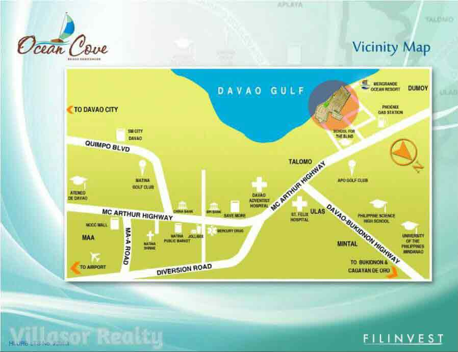 Ocean Cove Davao Location