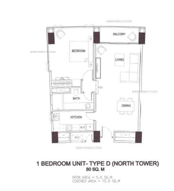 1 Bedroom Unit - Type D