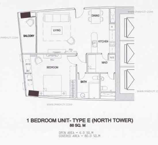 1 Bedroom Unit - Type E