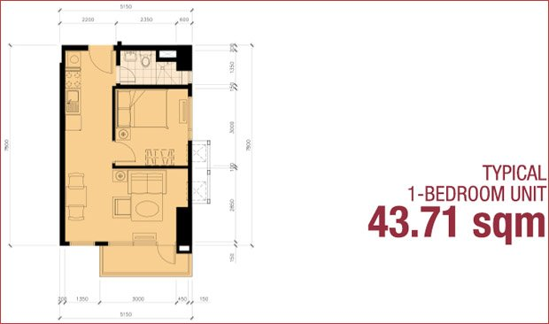 1 - Bedroom Unit