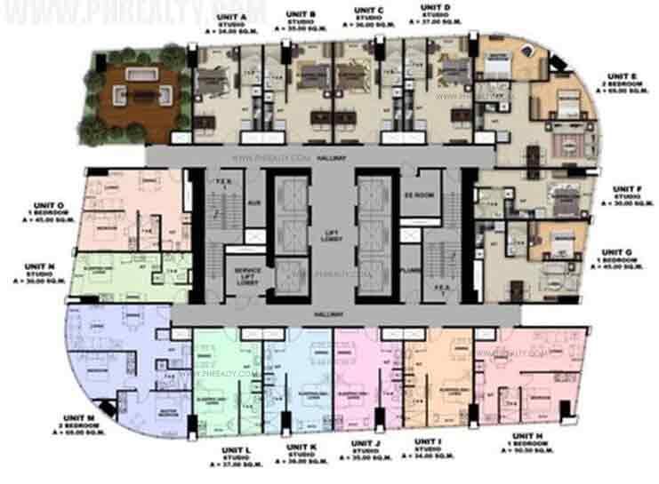 16th -36th Floor Plan