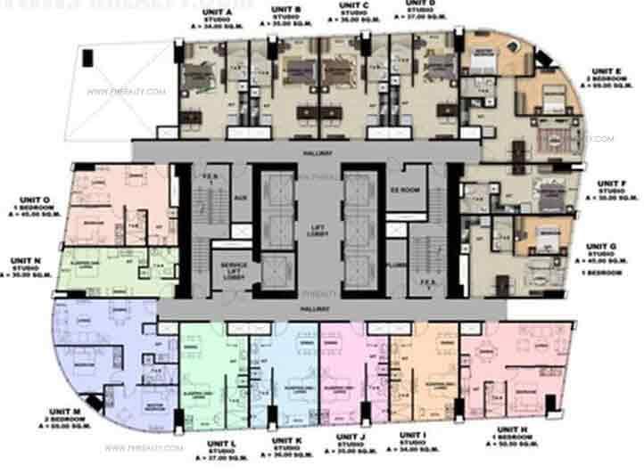 17th-18th & 37th-38th Floor plan