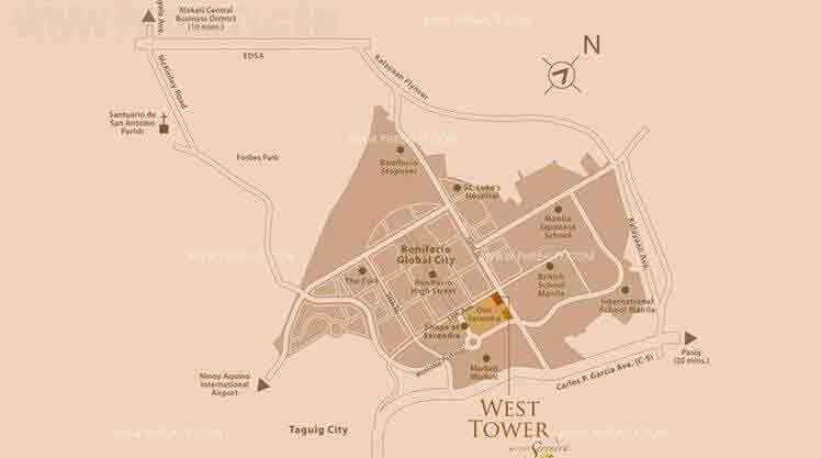 West Tower Location
