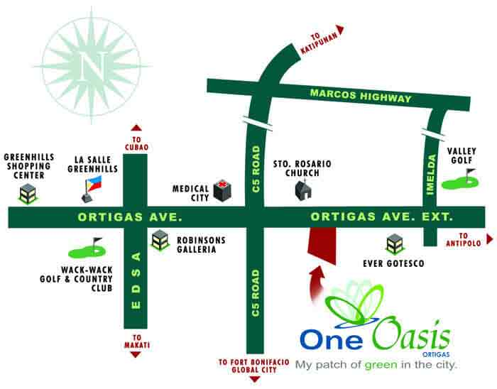 Filinvest One Oasis Location