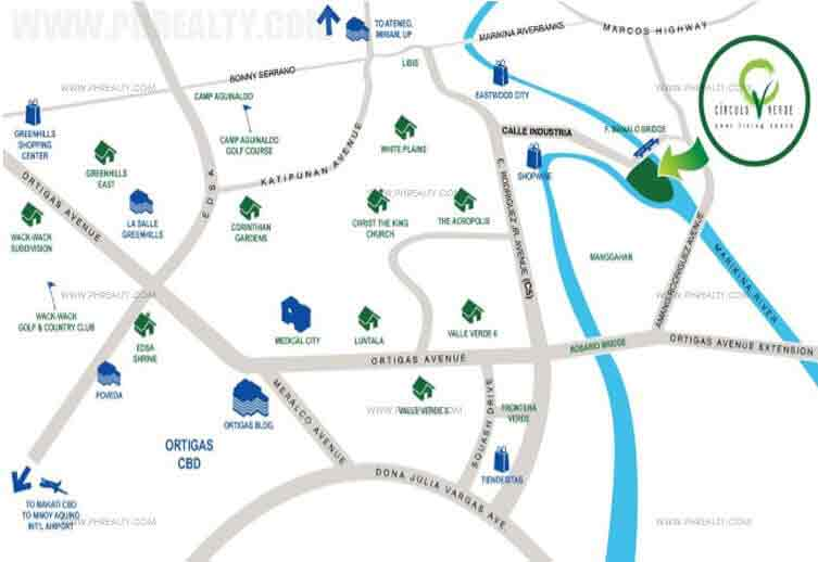 Circulo Verde Garden Homes Location