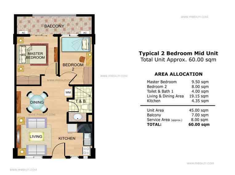 Palmetto 2 Bedroom Mid Unit