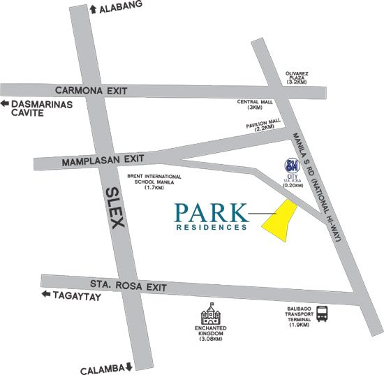 Park Residences Location