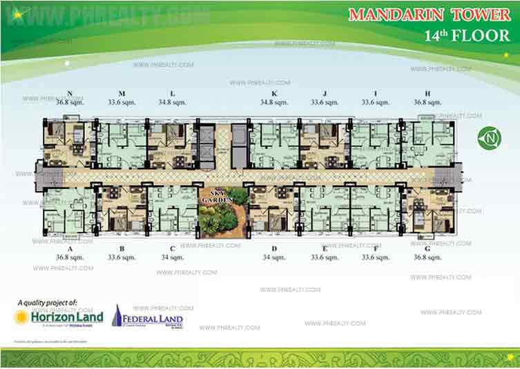 14th Floor Plan