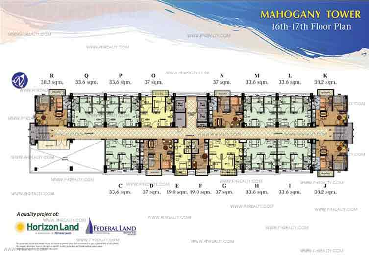 16th and 17th Floor Plan