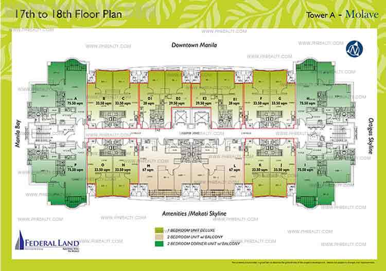 17th to 18th Floor Plan