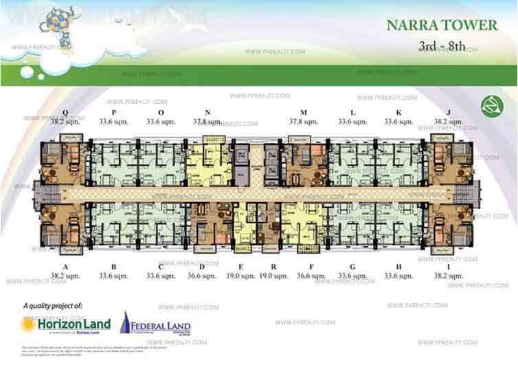 3rd to 8th Floor Plan