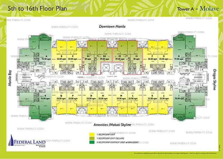 5th to 16th Floor Plan