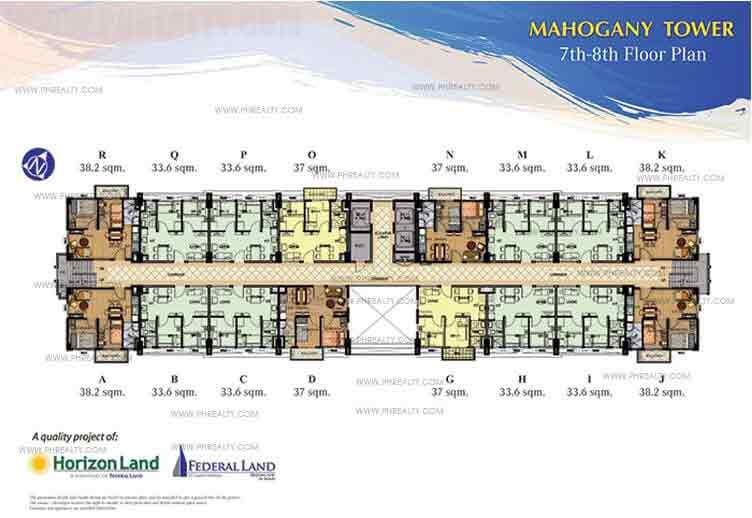 7th and 8th Floor Plan
