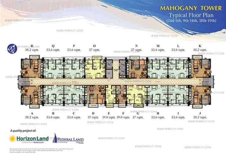 Typical Floor Plan 2nd,5th,9th,14th,18th Floor