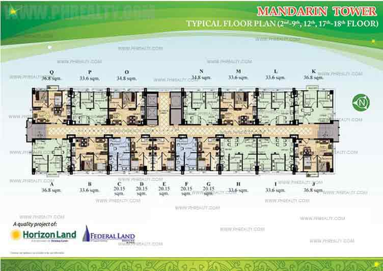 Typical Floor Plan 2nd,9th,12th,17th,18th Floor