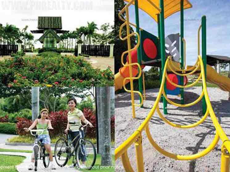 Bicycle Path & Childrens Playground