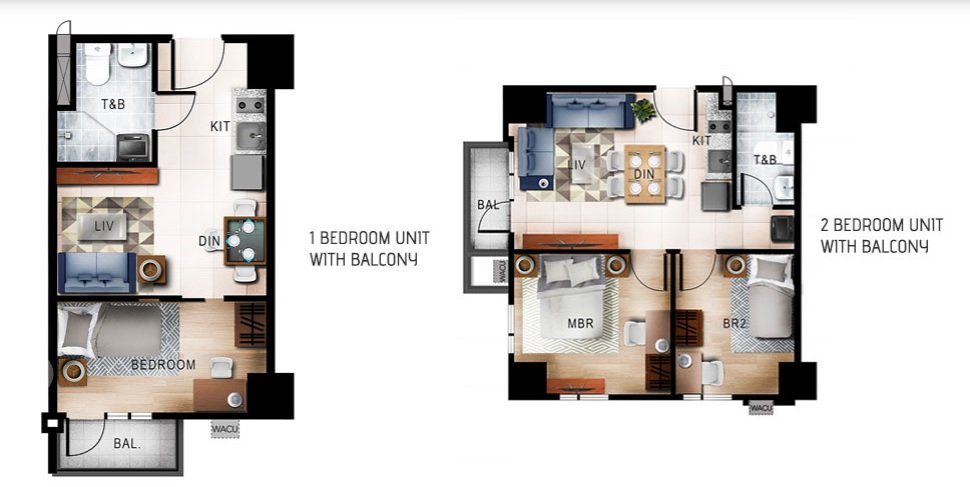 1 BR and 2 BR Unit