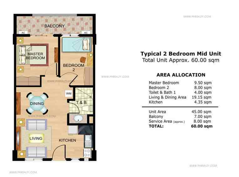 Roselle 2 Bedroom Mid Unit