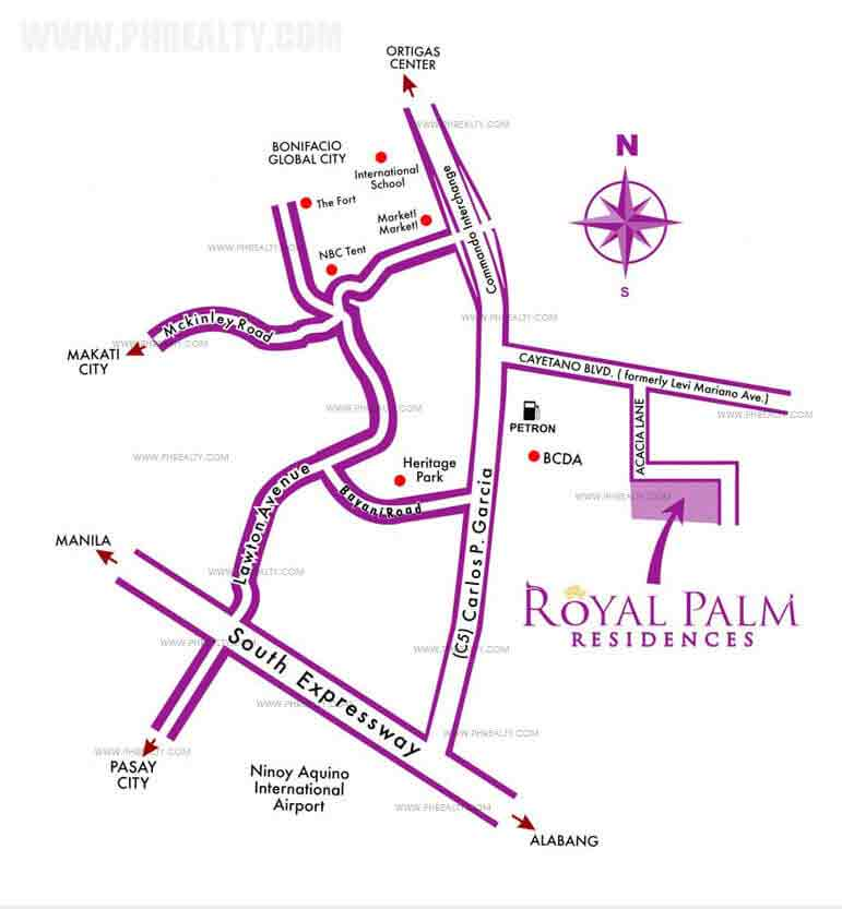 Royal Palm Residences Location